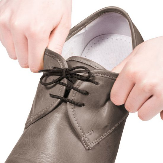 Lacets de souliers élastiques marron 45 cm