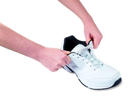 Lacets de souliers élastiques blanc 45 cm