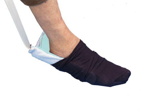 Enfile-chaussettes en tissu éponge