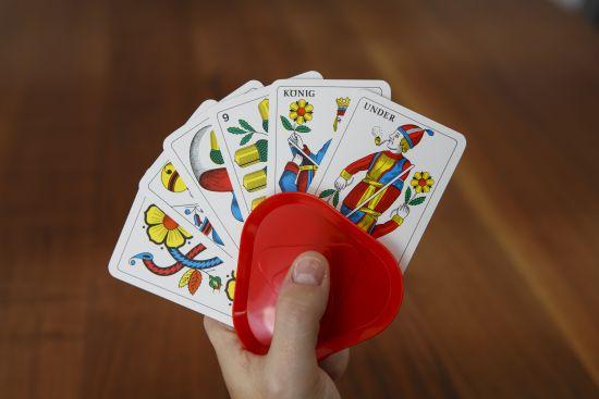 Porta carte da gioco manuale
