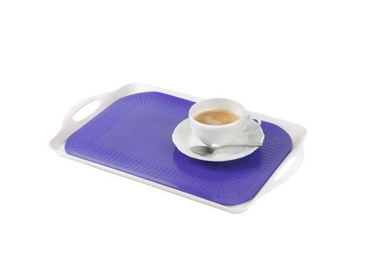 Dessous-de-plat antidérapants, bleu, rectangulaire