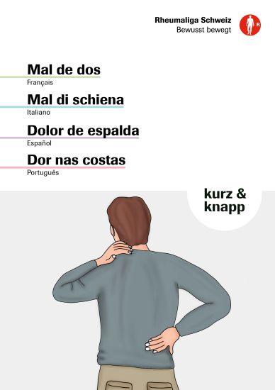 Le mal de dos · Mal di schiena · Dolor de espalda · Dor nas costas